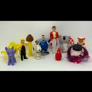 Lot of 10 toys mixed lot Disney Pez Little Pony
